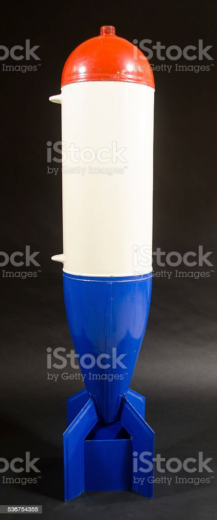 Red, White and Blue Bomb stock photo