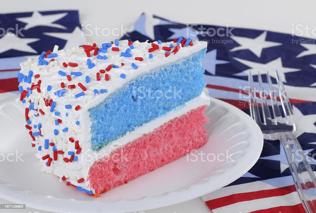Red White and Blue Cake royalty-free stock photo
