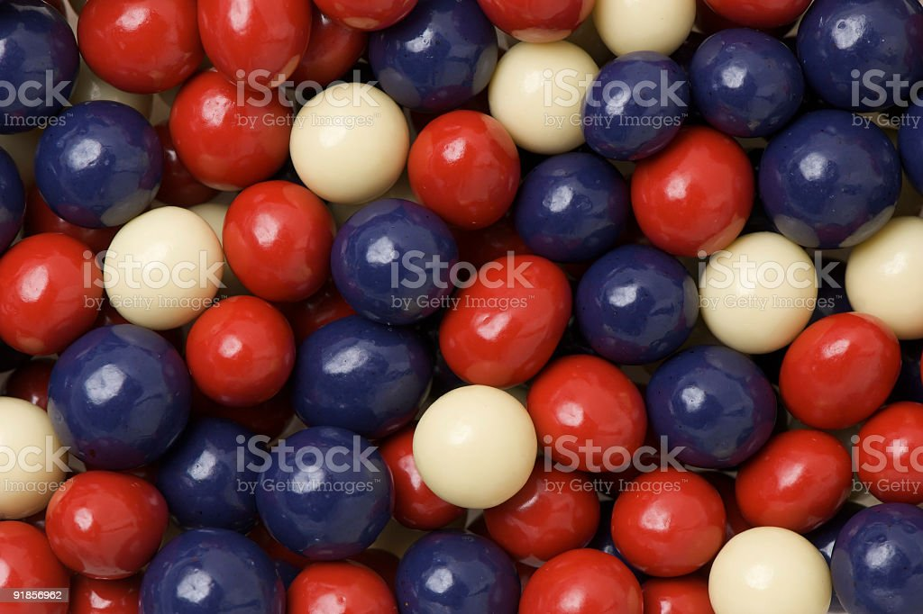 Red, White and Blue Candies royalty-free stock photo