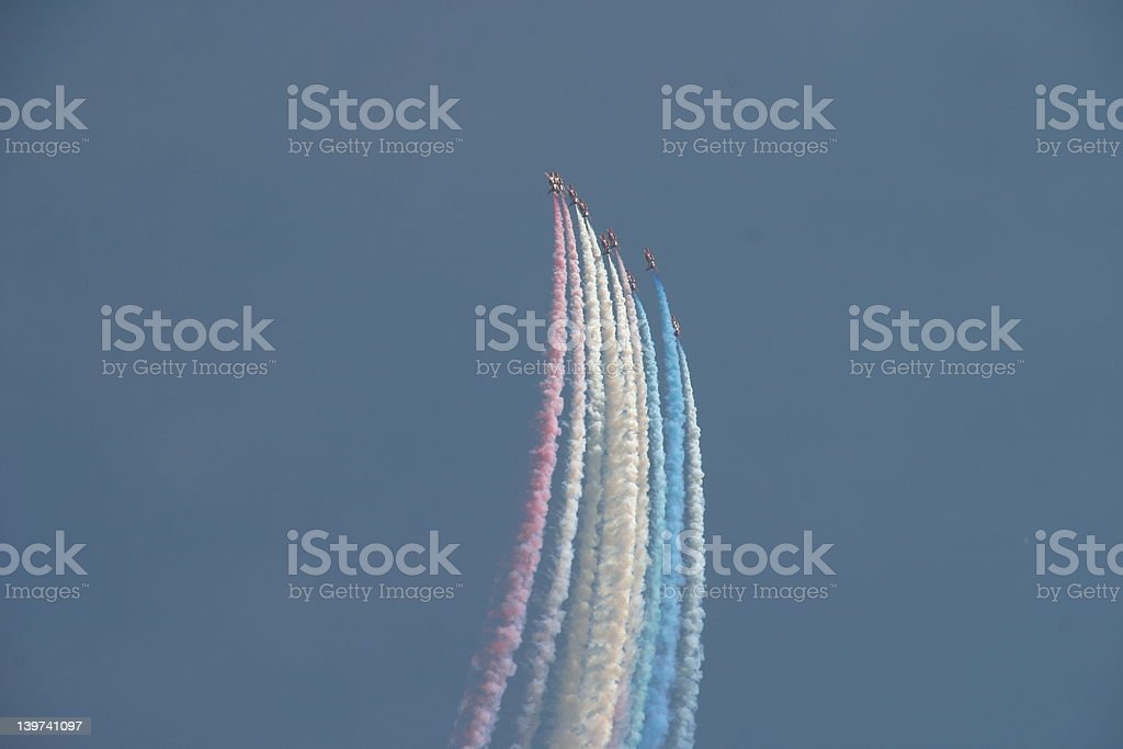 Red, White and Blue display royalty-free stock photo
