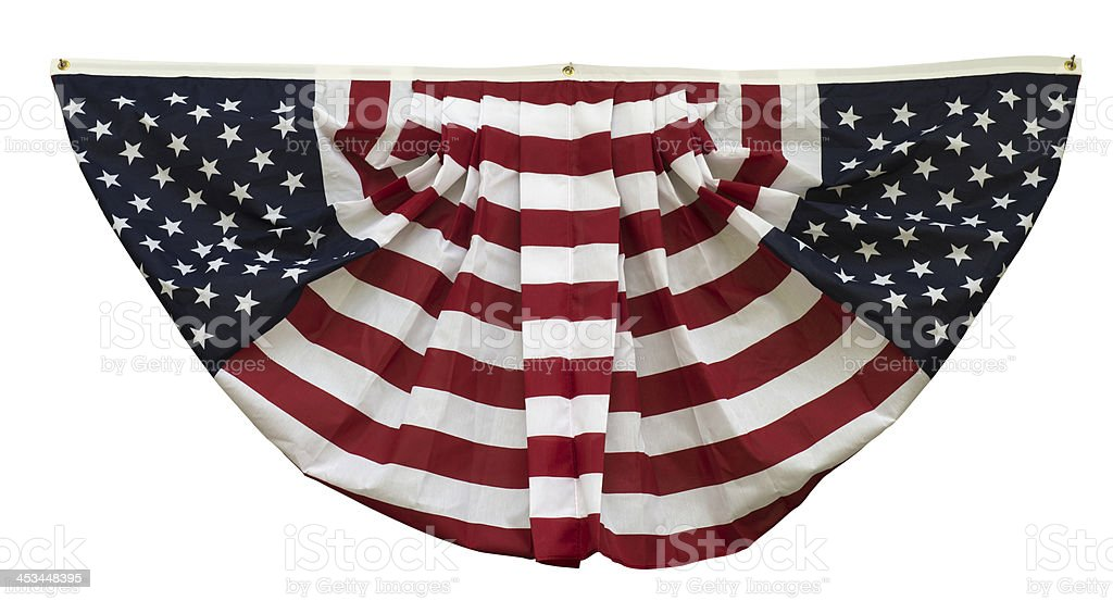 Red, white and blue flag swag banner royalty-free stock photo