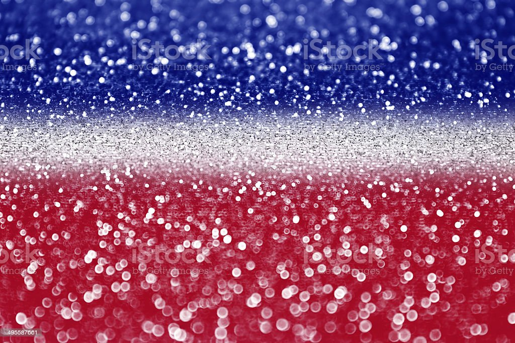 Red white and blue glitter stock photo