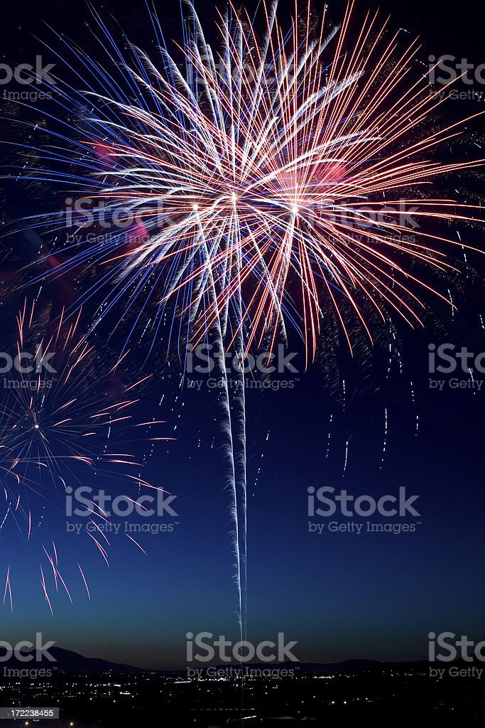 Red, White and Blue royalty-free stock photo
