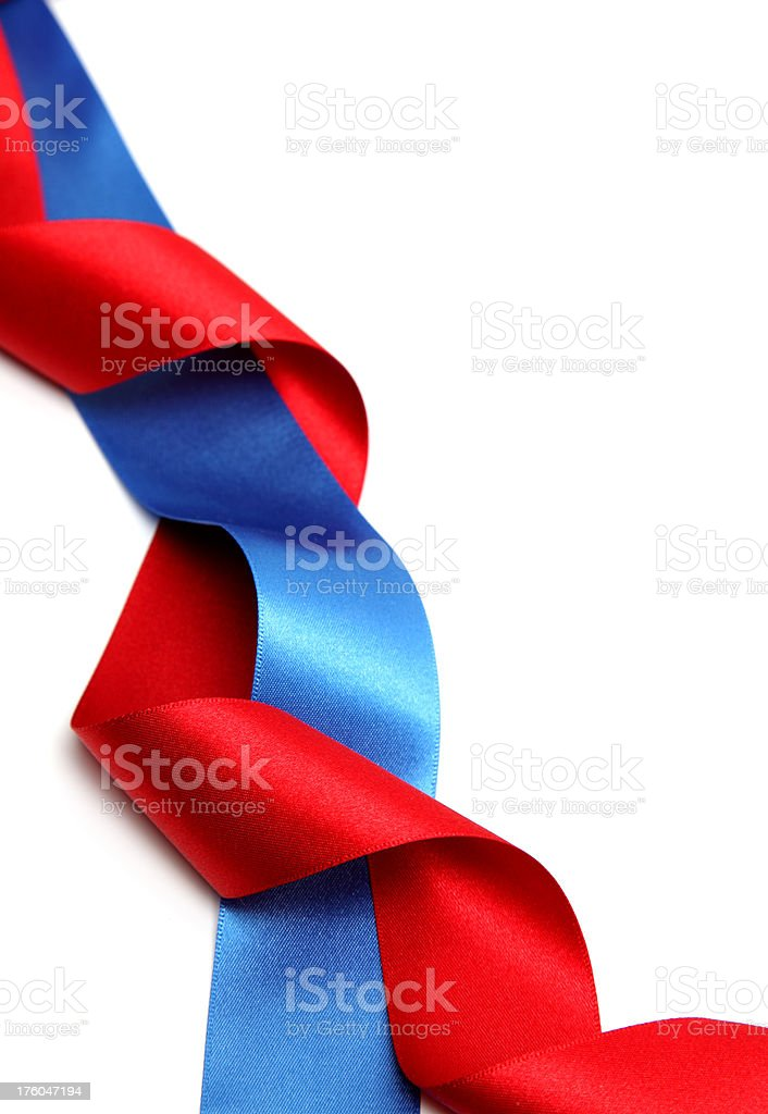 Red White and Blue royalty-free stock photo