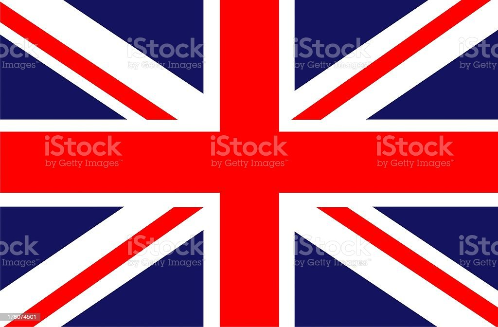Red, white and blue Union Jack flag of the United Kingdom stock photo