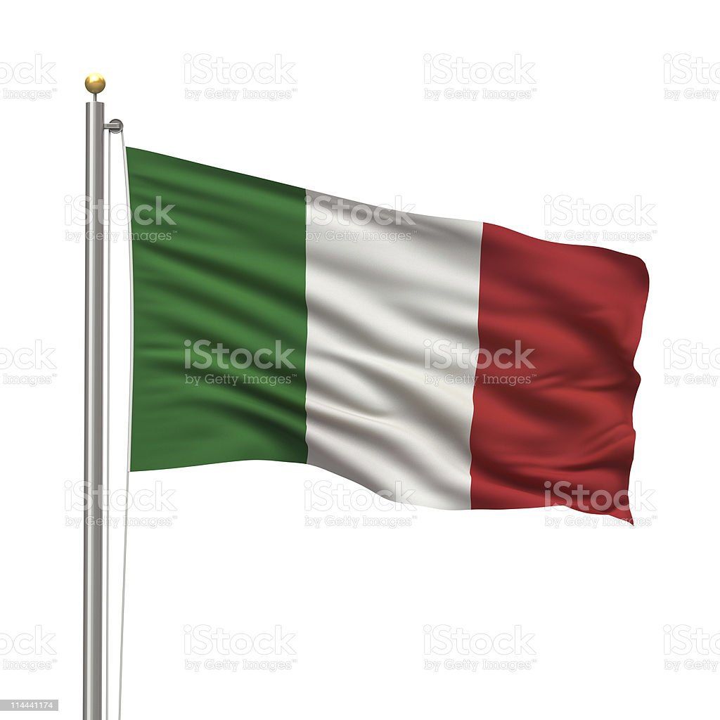 Red, white, and green Italian flag stock photo