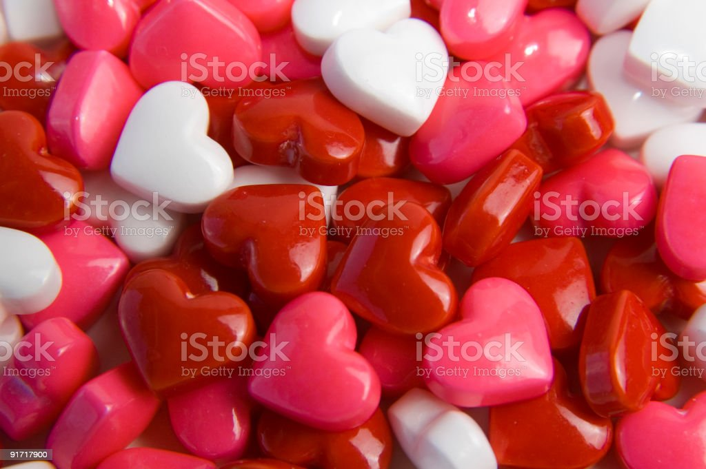 red, white and pink candy hearts royalty-free stock photo