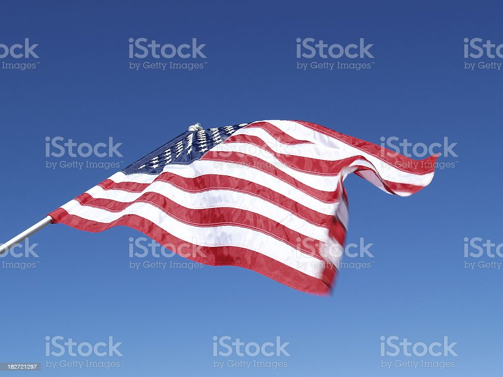 Red White & Blue - American Glory against sky stock photo