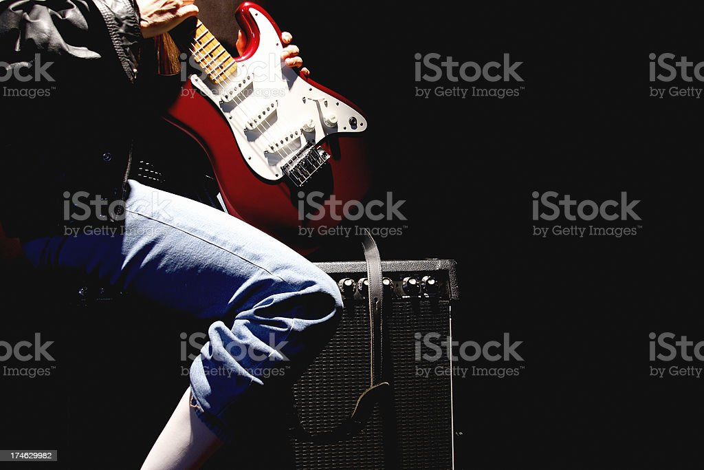 Red, White & Blue and Black stock photo