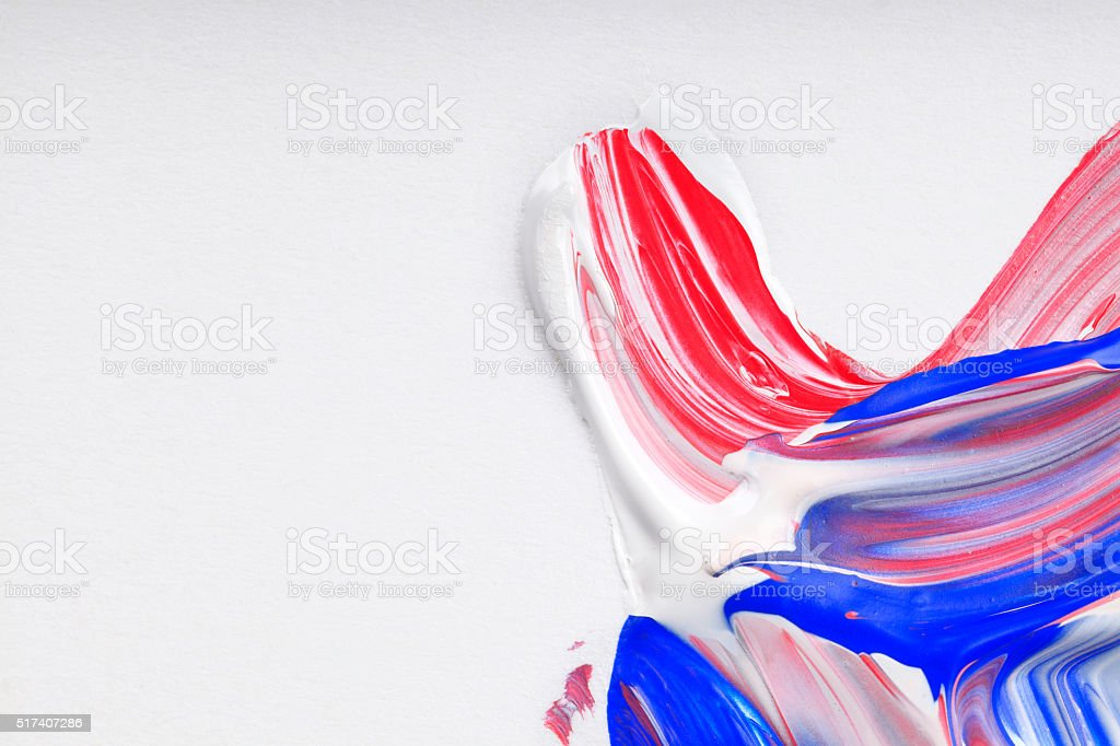 Red White Blue Paint Mixed Swirl Vibrant Colour vector art illustration