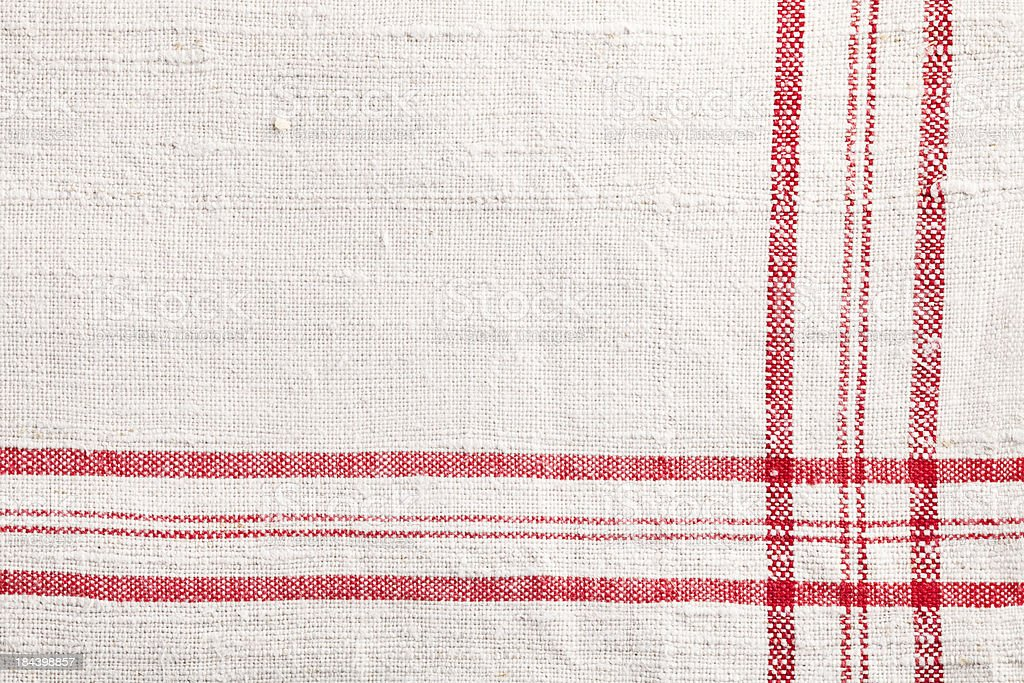 red white dishtowel textile texture stock photo