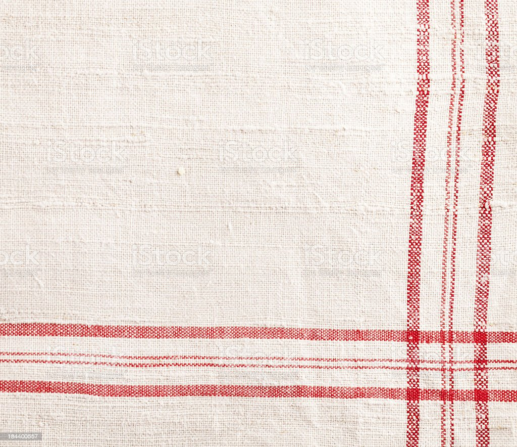 red white dishtowel textile texture royalty-free stock photo