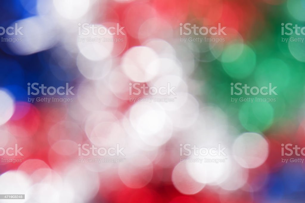 Red, white, green and blue circle background stock photo