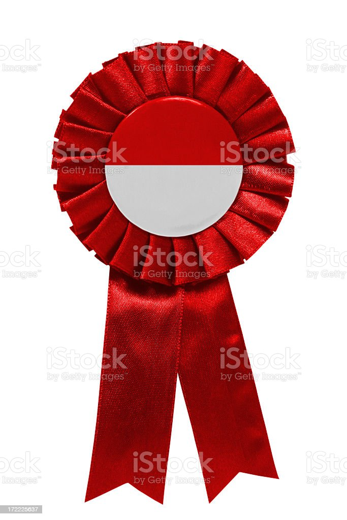 Red white ribbon stock photo