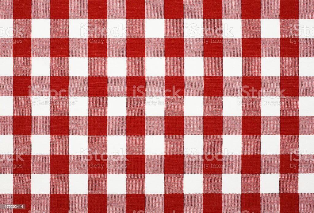 Red White Table Cloth royalty-free stock photo