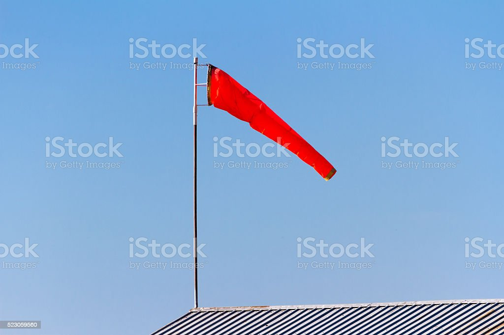 Red Windsock stock photo