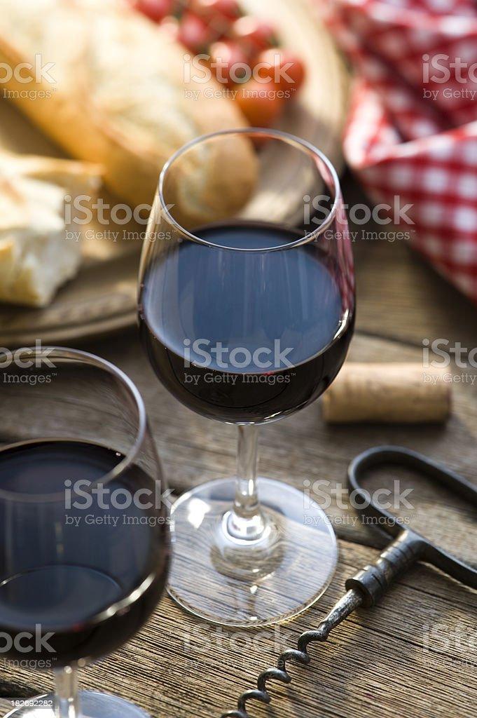 Red Wine Alfresco royalty-free stock photo
