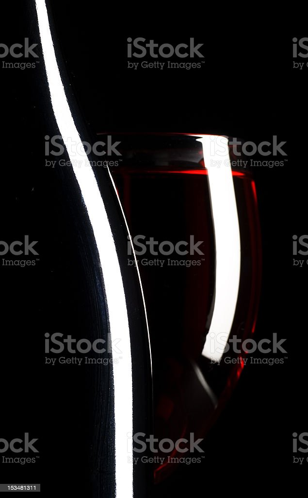 Red Wine and glass royalty-free stock photo