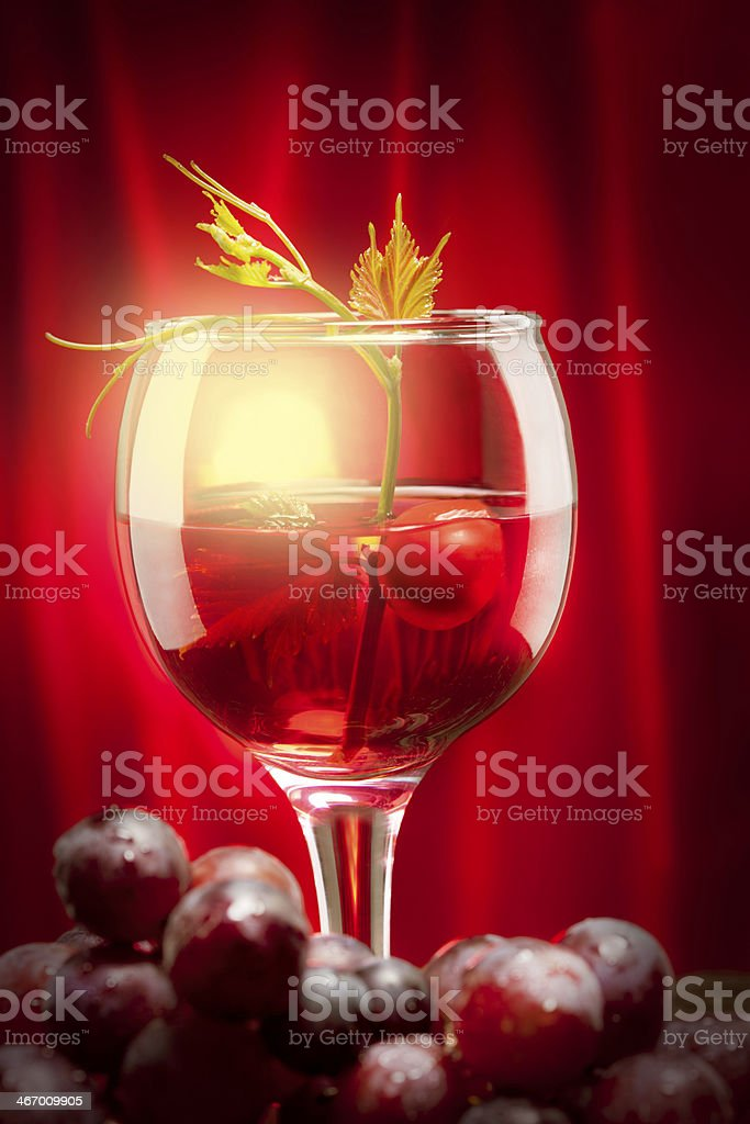 Red wine and grape royalty-free stock photo