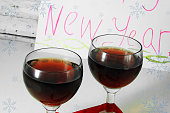 Red wine and happy New Year