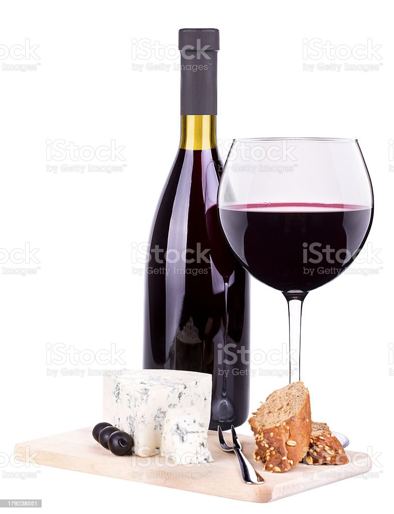 red wine assortment cheese royalty-free stock photo