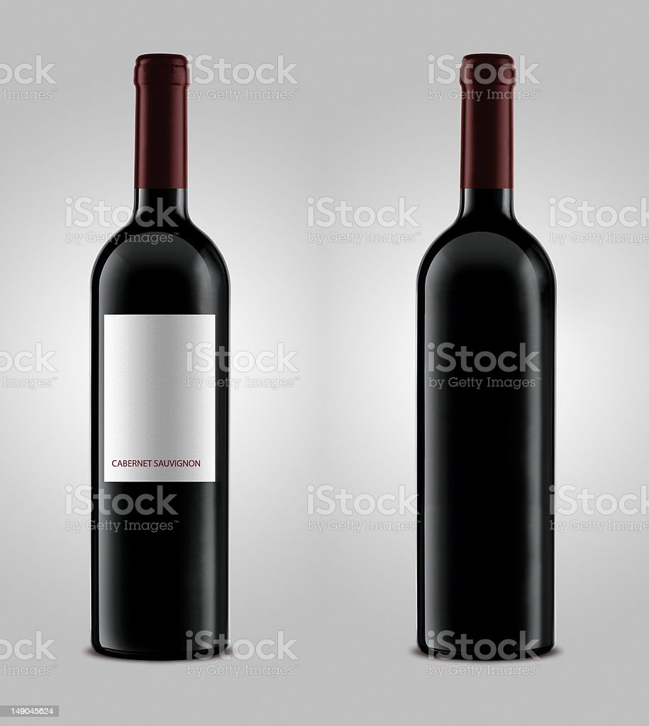 Red wine blank bottles royalty-free stock photo
