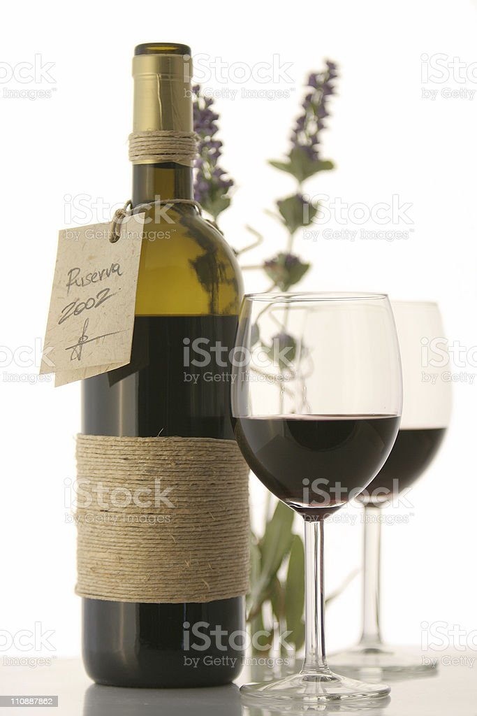 Red wine bottle royalty-free stock photo