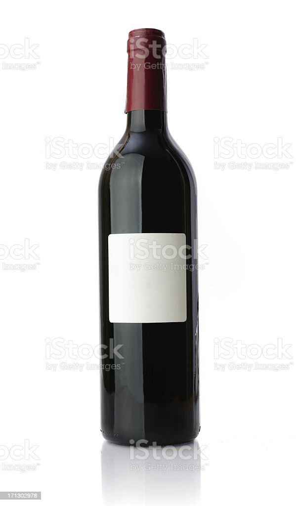 Red Wine Bottle stock photo