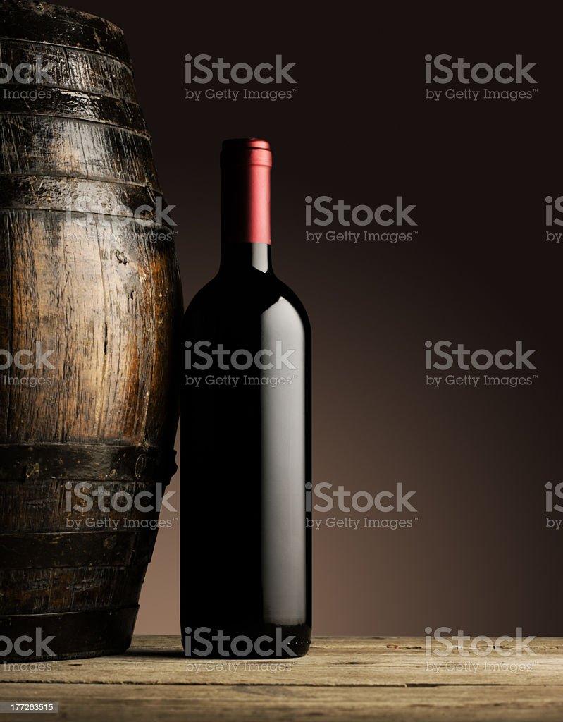 Bouteille de vin rouge photo libre de droits