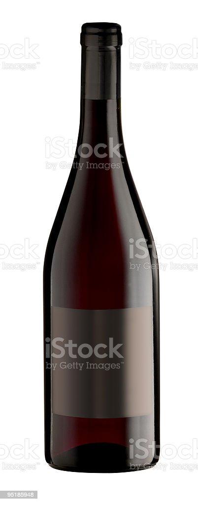 Bottiglia di vino rosso foto stock royalty-free