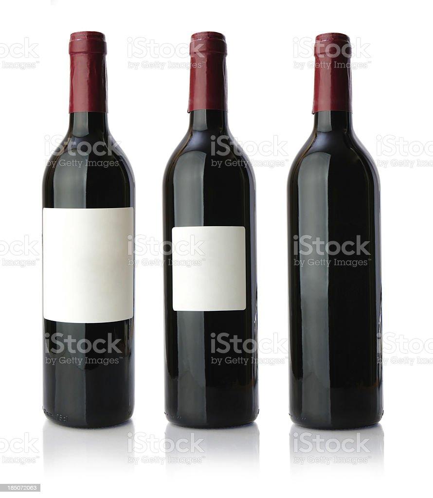 Red wine bottle XXXLarge royalty-free stock photo