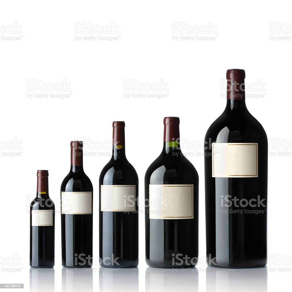 Red Wine Collection stock photo
