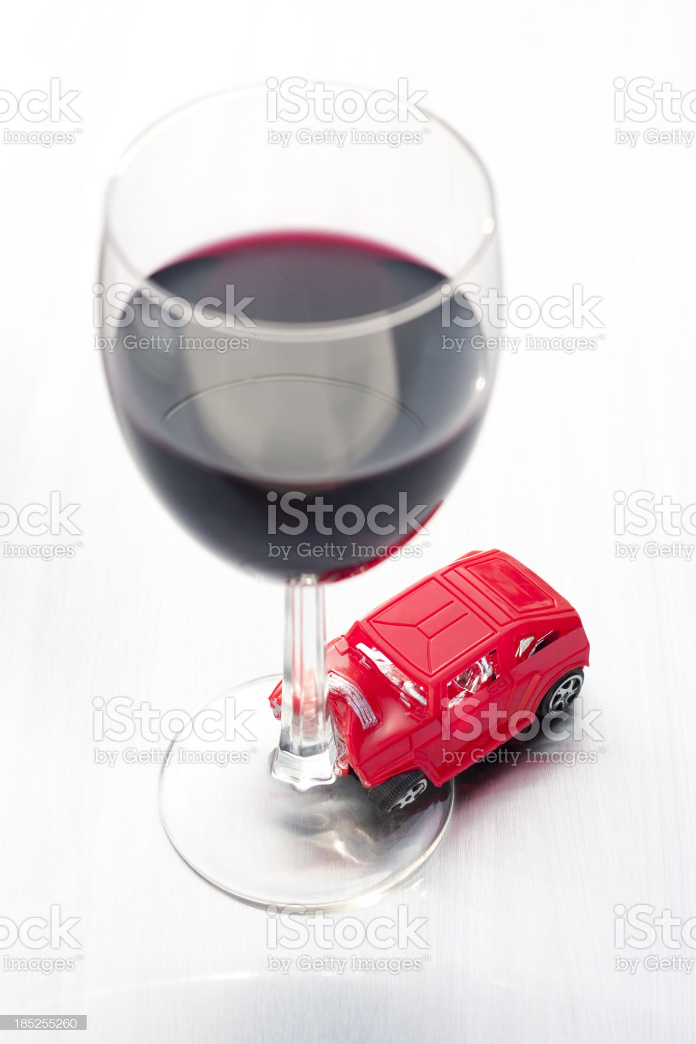DUI - Red Wine Crash royalty-free stock photo