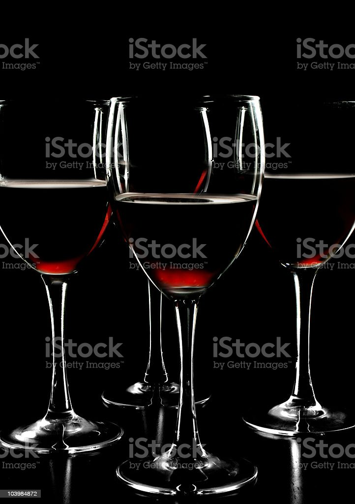 red wine cups royalty-free stock photo