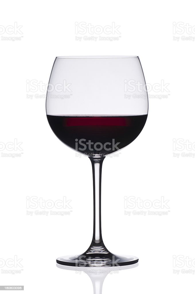 Red wine glass isolated on white background royalty-free stock photo