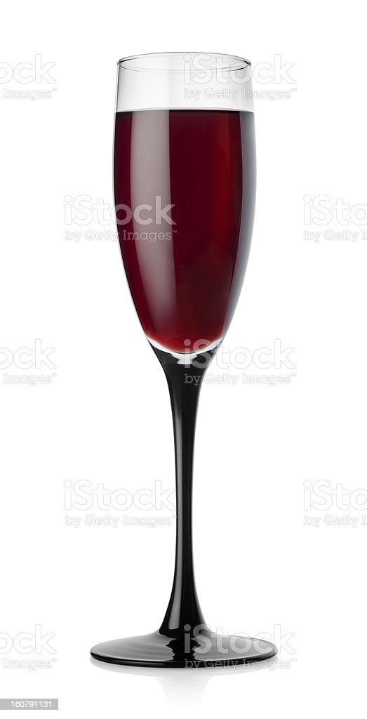Red wine glass isolated royalty-free stock photo