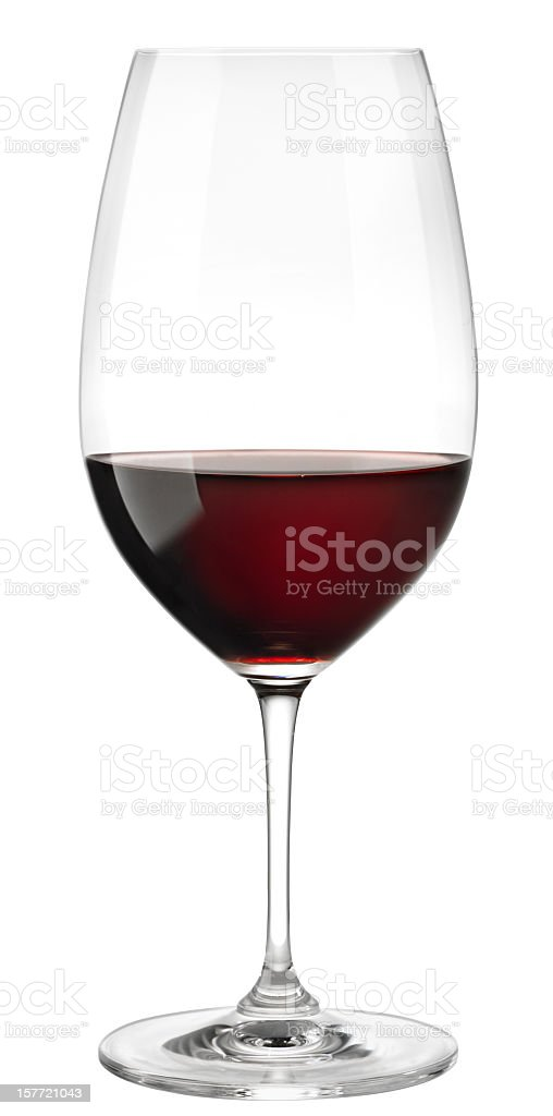Red Wine Glass on white stock photo
