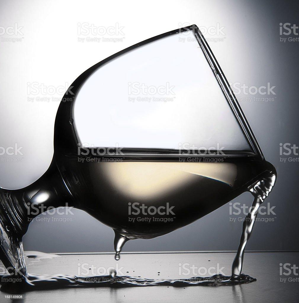 Verre à vin rouge photo libre de droits