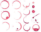 Red wine glass stains