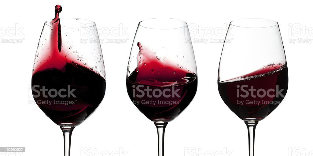 Red wine glasses royalty-free stock photo