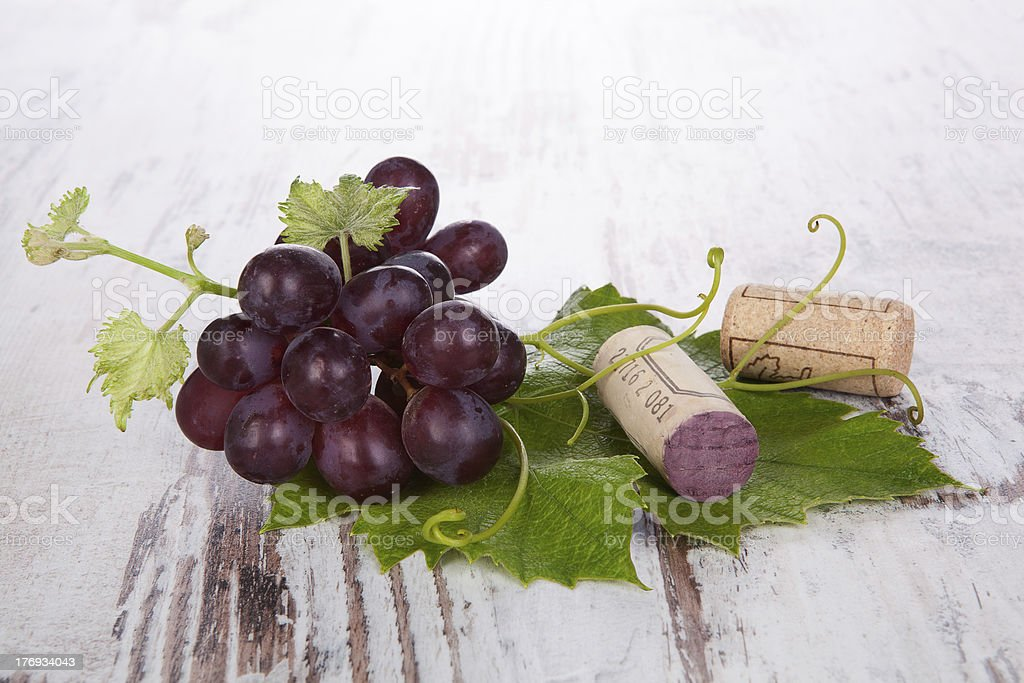 Red wine grape still life. royalty-free stock photo