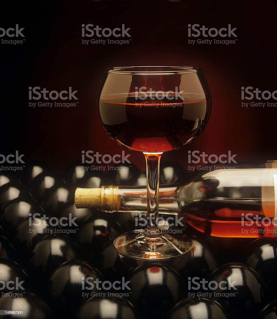 Red wine illustration stock photo