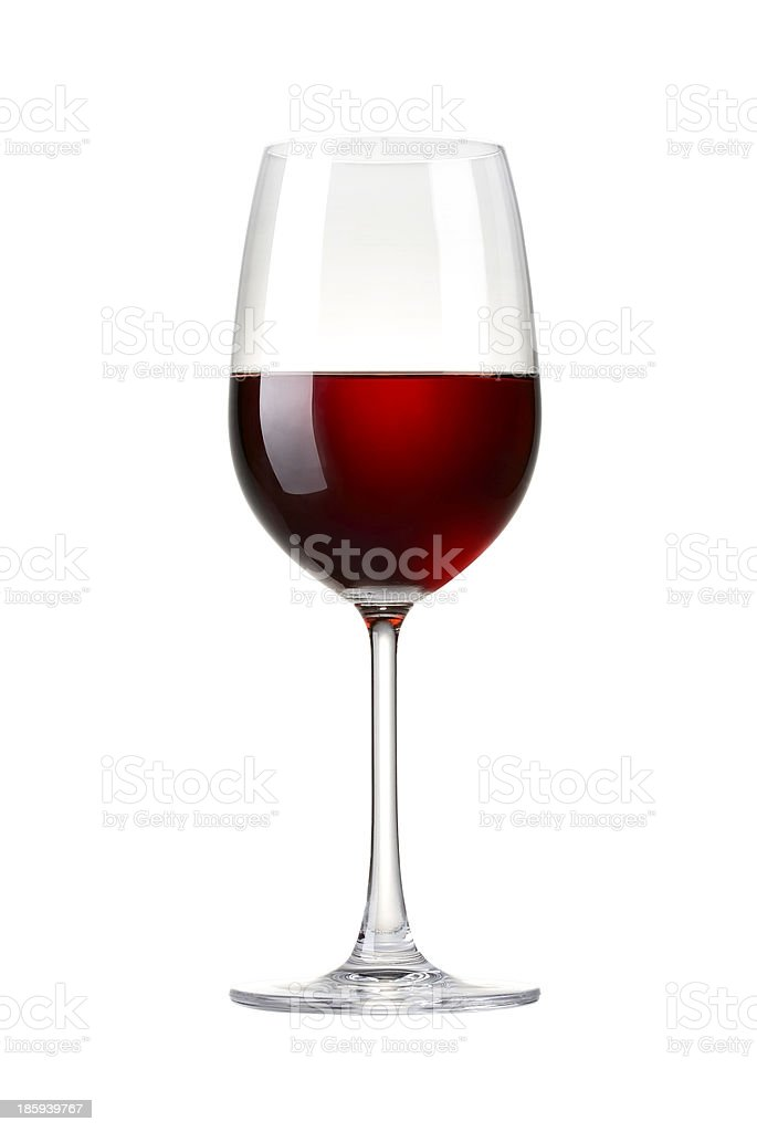 Red wine in a glass - realistic photo image stock photo