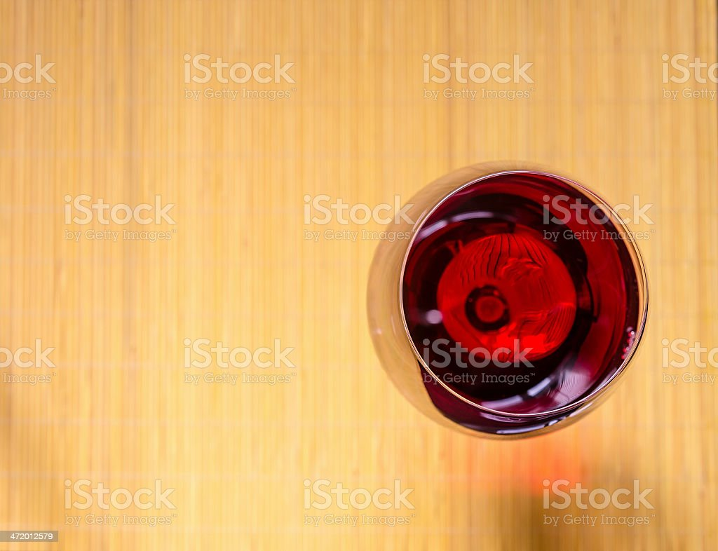 Red Wine In A Wineglass. The Top View royalty-free stock photo