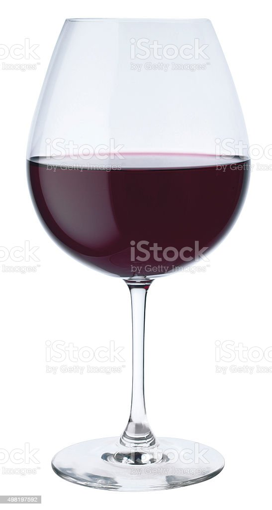 Red Wine in Crystal Glass stock photo