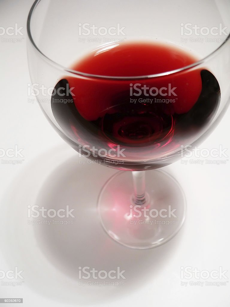 red wine in glass royalty-free stock photo