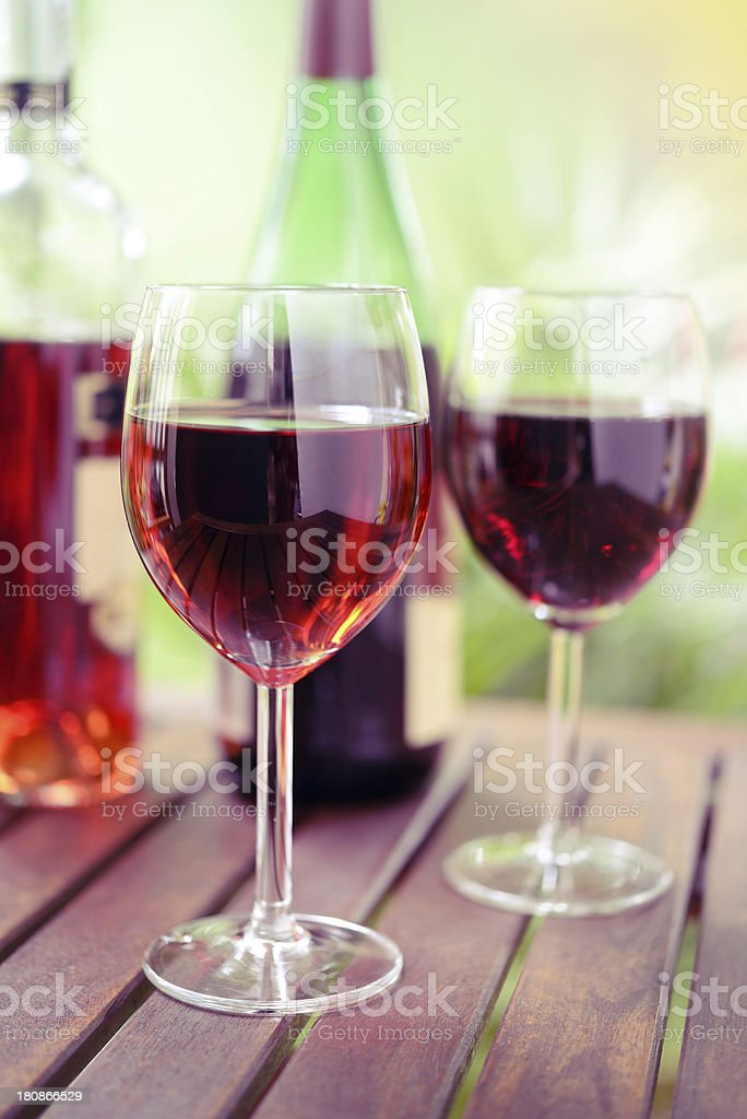 Red Wine in Glasses royalty-free stock photo