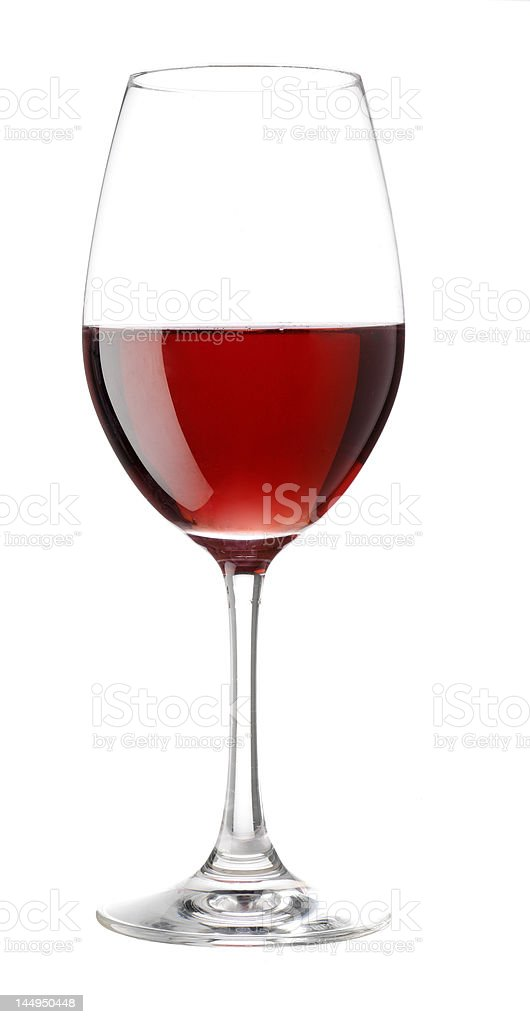Red wine in stem glass royalty-free stock photo