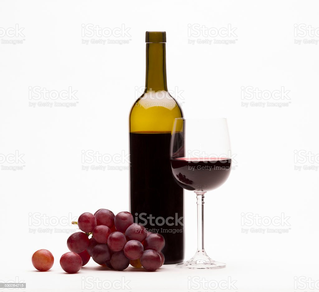 Red wine isolated on white stock photo