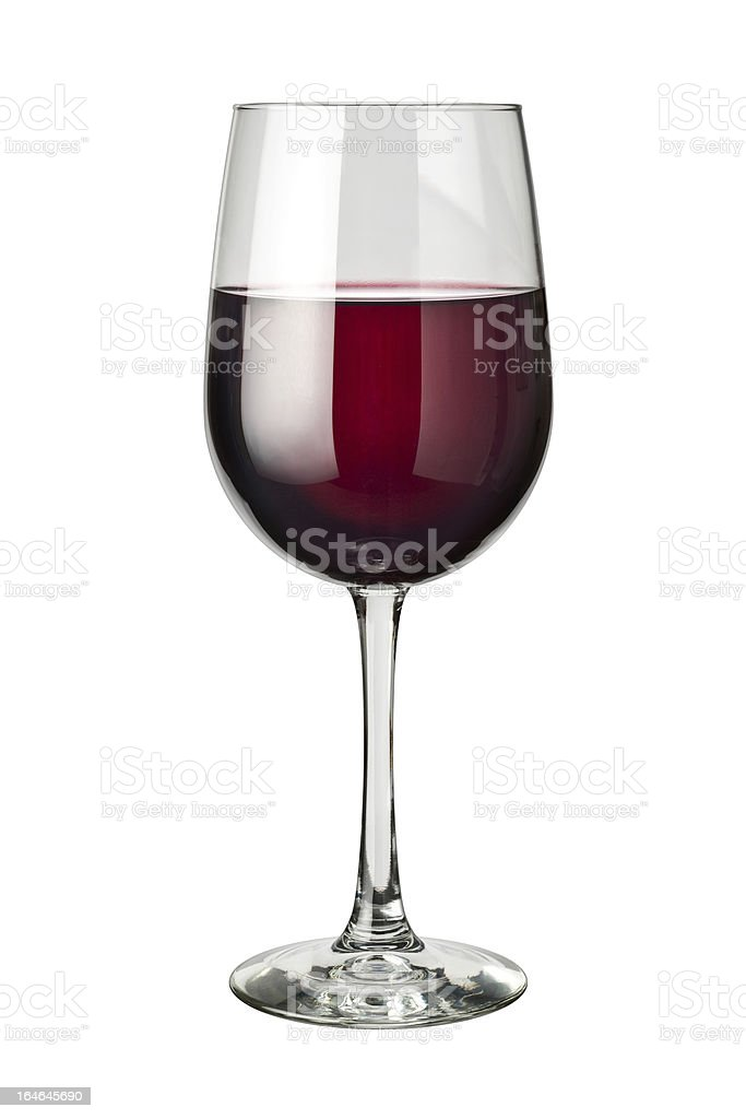 Red Wine isolated stock photo